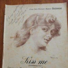 Partituras musicales: KISS ME ANTONIO PARERA DEDICADO Y FIRMADO POR EL AUTOR. Lote 214708928
