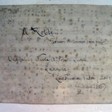 Partituras musicales: PARTITURA MANUSCRITA. EL ROBLE. CANCION ASTURIANA. LETRA EN ASTURIANO. BABLE. 1916. ASTURIAS. Lote 214934953