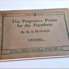 Partituras musicais: LIBRETO DE PARTITURAS PARA PIANO VARIAS - 26 X 18.CM THE PROGRESSIVE PRIMER FOR THE PIANOFORTE. Lote 236230740