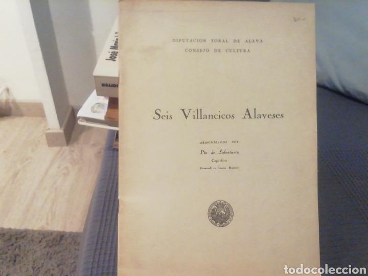 SEIS VILLANCICOS ALAVESES. PÍO DE SALVATIERRA. PARTITURA. (Música - Partituras Musicales Antiguas)