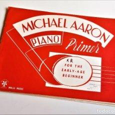 Partituras musicais: LIBRETO DE PARTITURAS VARIAS PARA PIANO - MICHAEL AARON - 30 X 23.CM. Lote 253158220