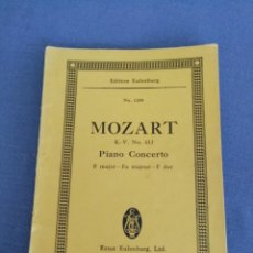 Partituras musicales: BEETHOVEN. PARTITURA. PIANO CONCERTO. EDITION EULENBURG N° 1208. Lote 215915308