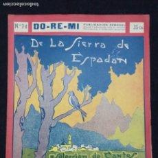 Partitions Musicales: PARTITURA LA SIERRA DE ESPADAN. BONITA PORTADA MODERNISTA. Nº 74 DE LA COLECCIÓN DO-RE-MI. 1920,S. Lote 217256356