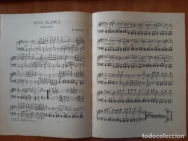 Partituras musicales: PARTITURA :ROSA BLANCA DE R. ROSELL / EN CATALÁN - Foto 2 - 220764890