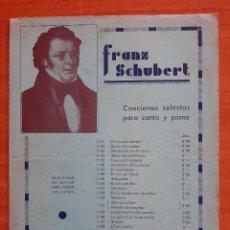 Partituras musicales: PARTITURA : CANCIONES SELECTAS PARA CANTO Y PIANO. Lote 220779848