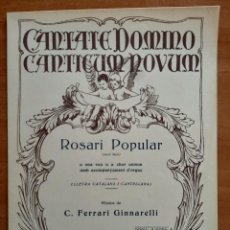 Partituras musicales: PARTITURA : ROSARI POPULAR - FERRARI GINNARELLI / EN CATALÁN. Lote 220781292