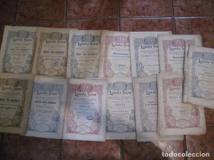 Partituras musicales: gran lote antiguas partituras musica sacra religiosa . lauda sion emporium . foment pietat - Foto 2 - 220858513