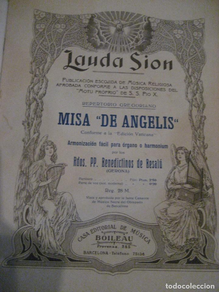 Partituras musicales: gran lote antiguas partituras musica sacra religiosa . lauda sion emporium . foment pietat - Foto 7 - 220858513