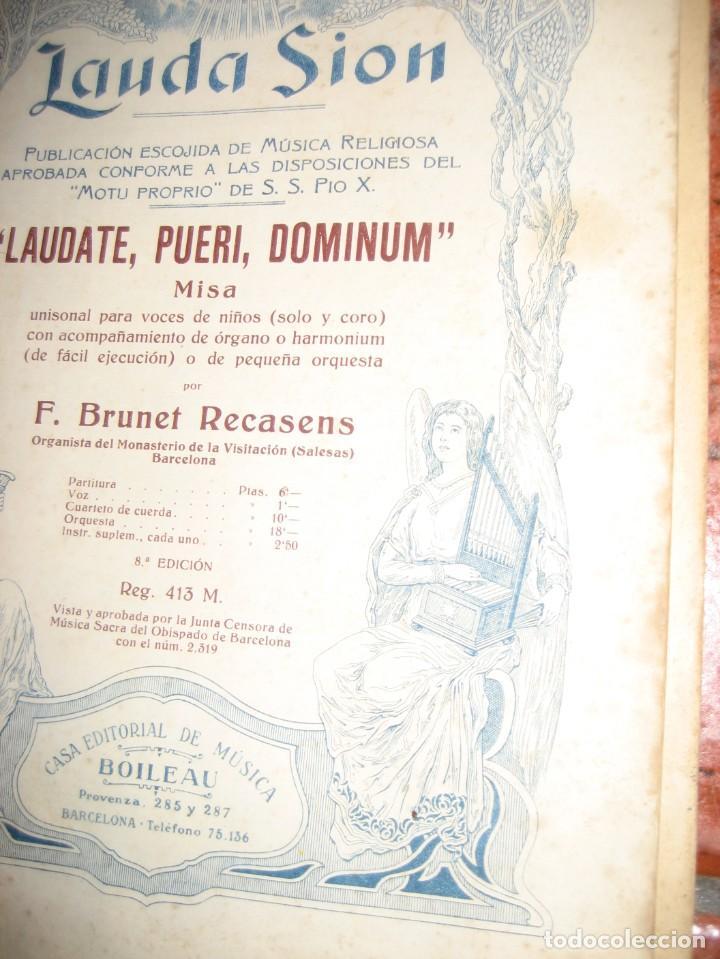 Partituras musicales: gran lote antiguas partituras musica sacra religiosa . lauda sion emporium . foment pietat - Foto 8 - 220858513