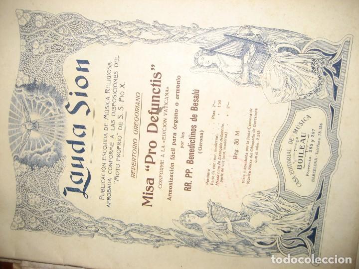 Partituras musicales: gran lote antiguas partituras musica sacra religiosa . lauda sion emporium . foment pietat - Foto 13 - 220858513