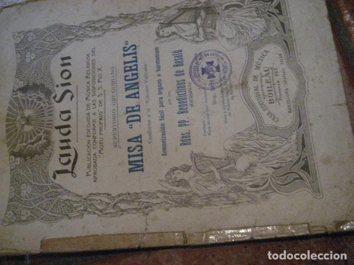 Partituras musicales: gran lote antiguas partituras musica sacra religiosa . lauda sion emporium . foment pietat - Foto 14 - 220858513