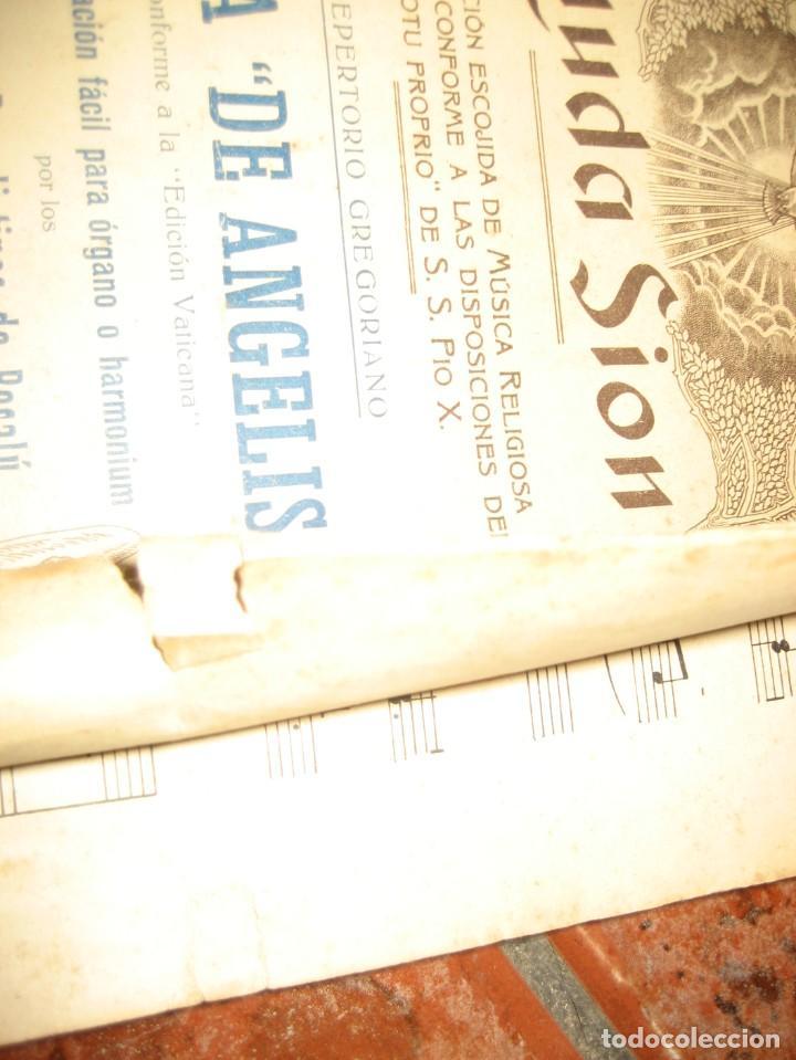 Partituras musicales: gran lote antiguas partituras musica sacra religiosa . lauda sion emporium . foment pietat - Foto 18 - 220858513