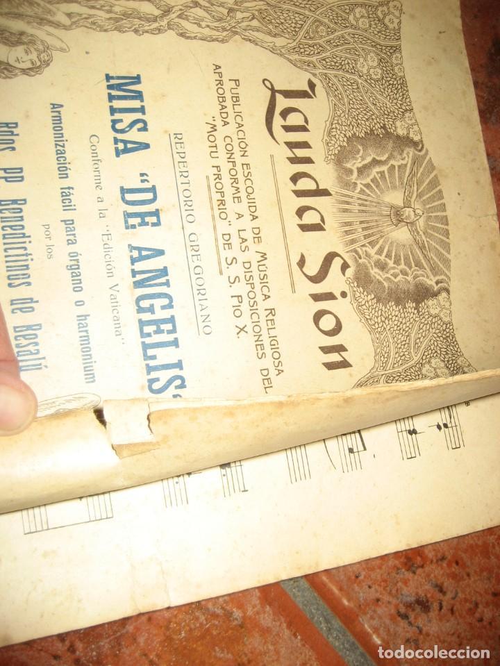 Partituras musicales: gran lote antiguas partituras musica sacra religiosa . lauda sion emporium . foment pietat - Foto 19 - 220858513