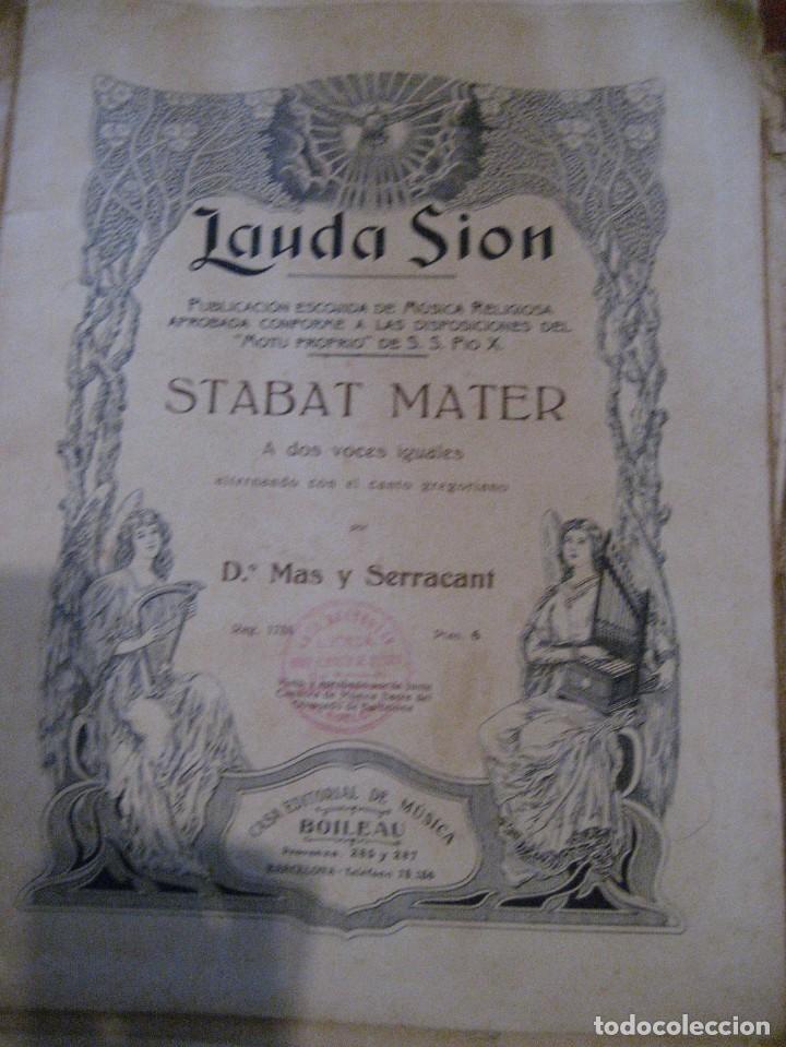 Partituras musicales: gran lote antiguas partituras musica sacra religiosa . lauda sion emporium . foment pietat - Foto 22 - 220858513