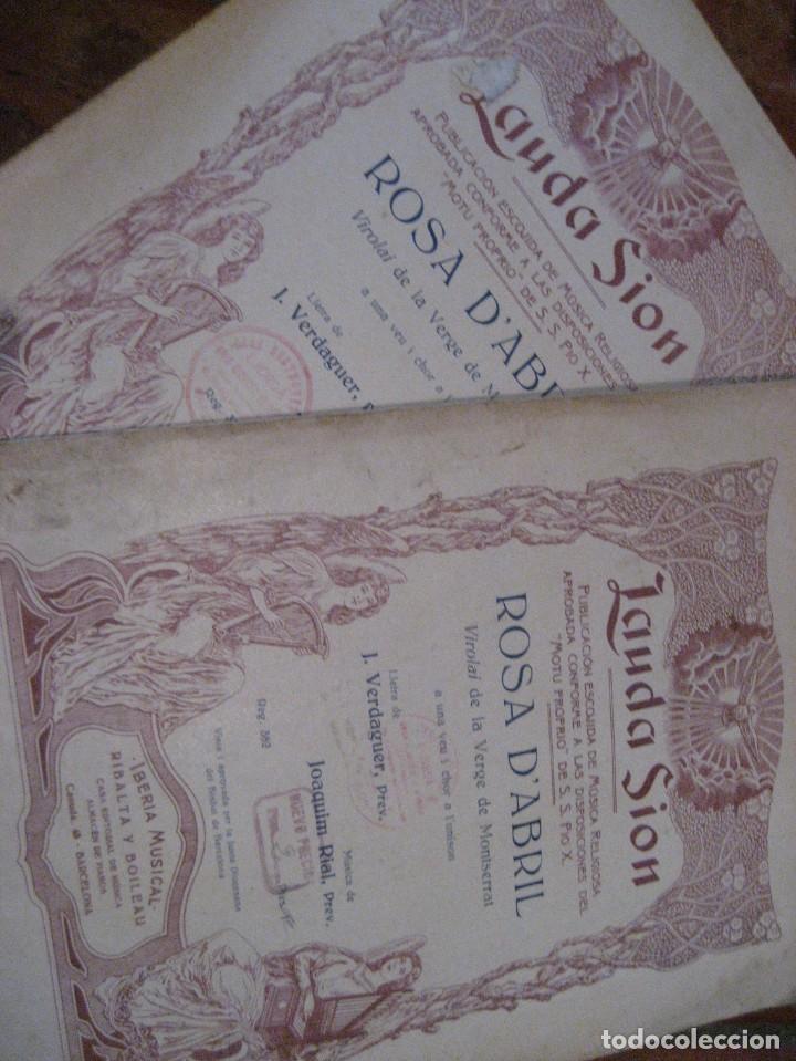 Partituras musicales: gran lote antiguas partituras musica sacra religiosa . lauda sion emporium . foment pietat - Foto 23 - 220858513