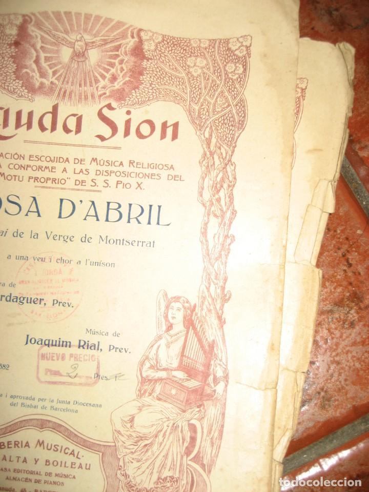 Partituras musicales: gran lote antiguas partituras musica sacra religiosa . lauda sion emporium . foment pietat - Foto 25 - 220858513