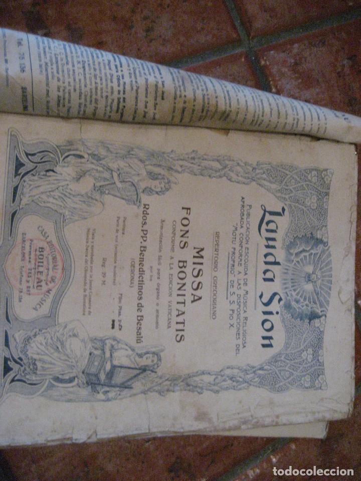 Partituras musicales: gran lote antiguas partituras musica sacra religiosa . lauda sion emporium . foment pietat - Foto 27 - 220858513
