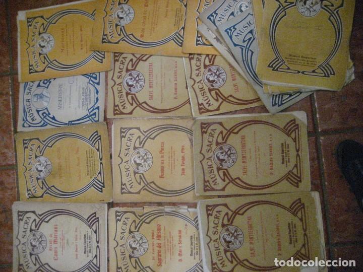 Partituras musicales: gran lote antiguas partituras musica sacra religiosa . lauda sion emporium . foment pietat - Foto 28 - 220858513