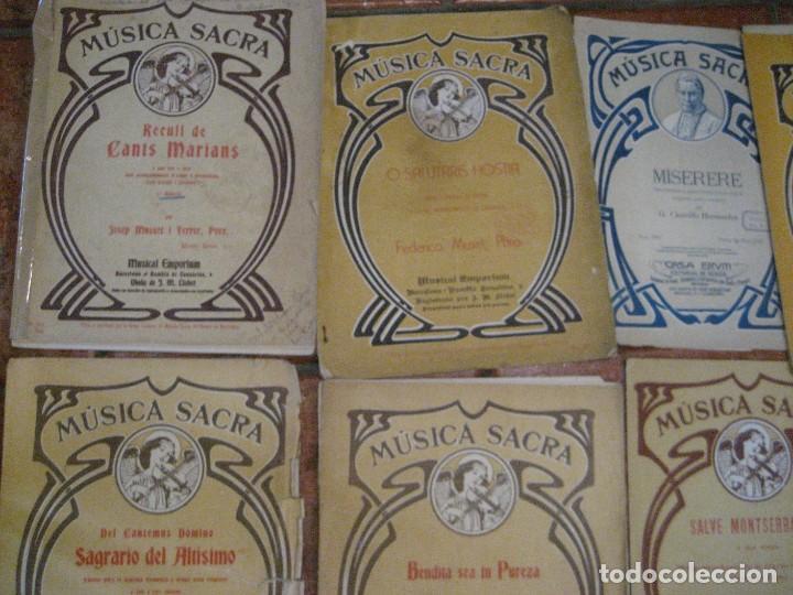 Partituras musicales: gran lote antiguas partituras musica sacra religiosa . lauda sion emporium . foment pietat - Foto 29 - 220858513