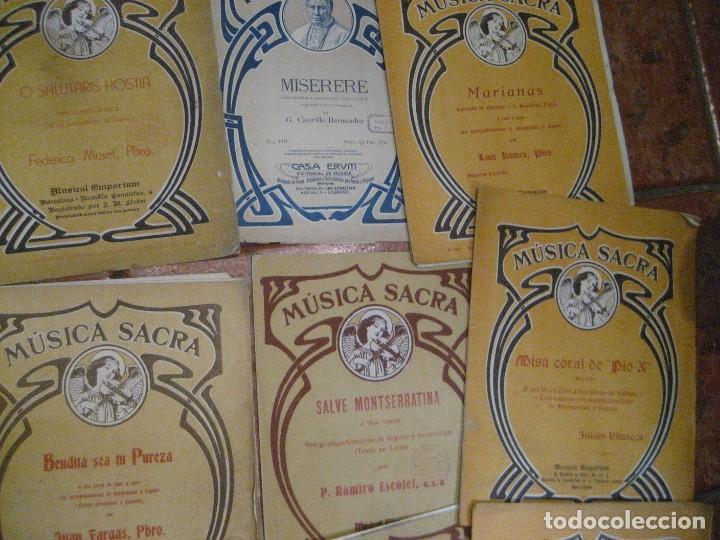 Partituras musicales: gran lote antiguas partituras musica sacra religiosa . lauda sion emporium . foment pietat - Foto 30 - 220858513