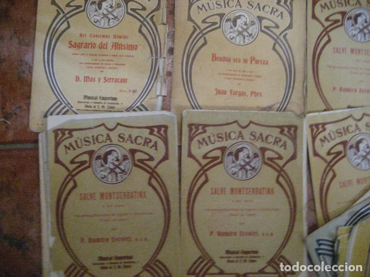 Partituras musicales: gran lote antiguas partituras musica sacra religiosa . lauda sion emporium . foment pietat - Foto 31 - 220858513