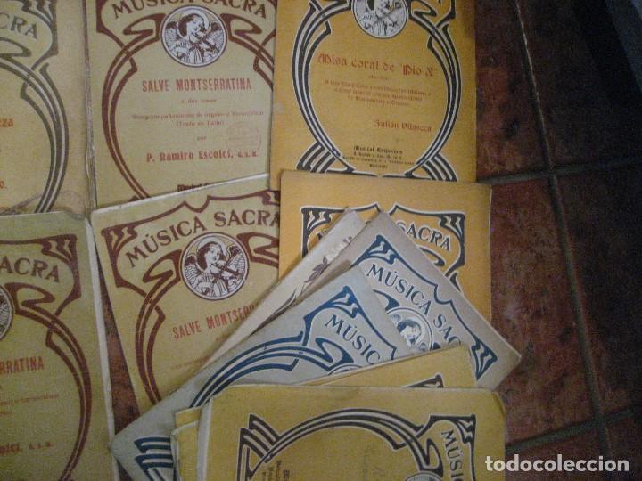 Partituras musicales: gran lote antiguas partituras musica sacra religiosa . lauda sion emporium . foment pietat - Foto 32 - 220858513