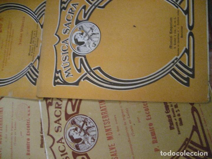 Partituras musicales: gran lote antiguas partituras musica sacra religiosa . lauda sion emporium . foment pietat - Foto 33 - 220858513