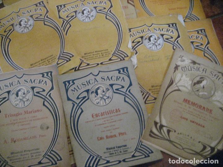 Partituras musicales: gran lote antiguas partituras musica sacra religiosa . lauda sion emporium . foment pietat - Foto 34 - 220858513