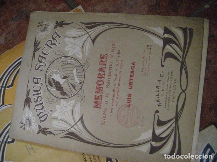 Partituras musicales: gran lote antiguas partituras musica sacra religiosa . lauda sion emporium . foment pietat - Foto 35 - 220858513