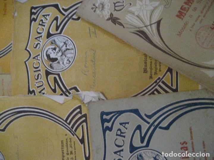 Partituras musicales: gran lote antiguas partituras musica sacra religiosa . lauda sion emporium . foment pietat - Foto 36 - 220858513