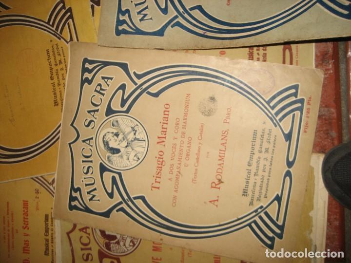 Partituras musicales: gran lote antiguas partituras musica sacra religiosa . lauda sion emporium . foment pietat - Foto 37 - 220858513