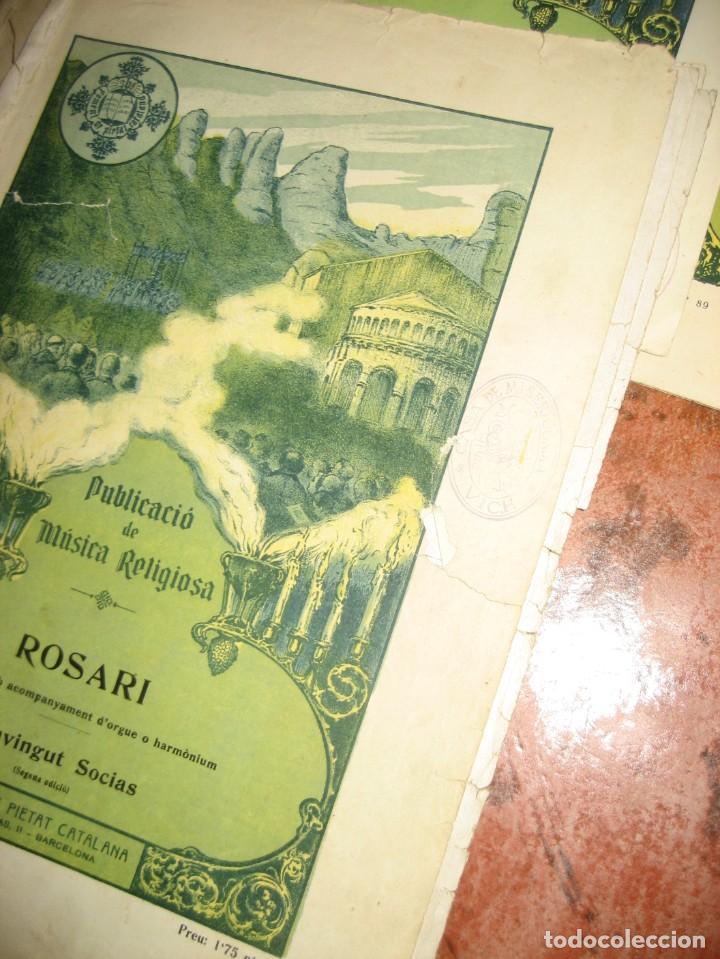Partituras musicales: gran lote antiguas partituras musica sacra religiosa . lauda sion emporium . foment pietat - Foto 42 - 220858513