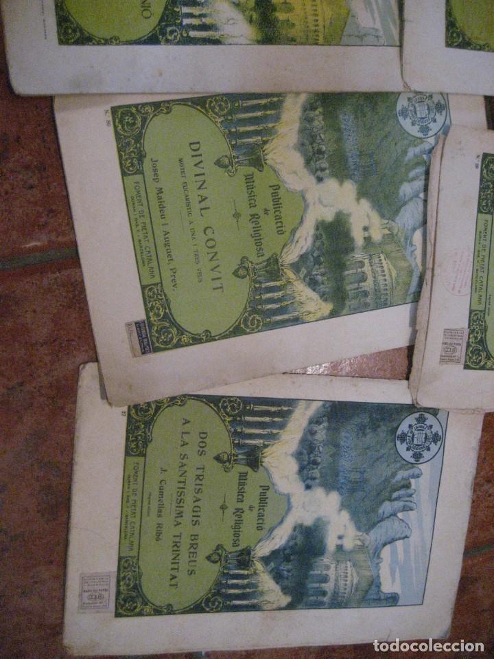 Partituras musicales: gran lote antiguas partituras musica sacra religiosa . lauda sion emporium . foment pietat - Foto 48 - 220858513