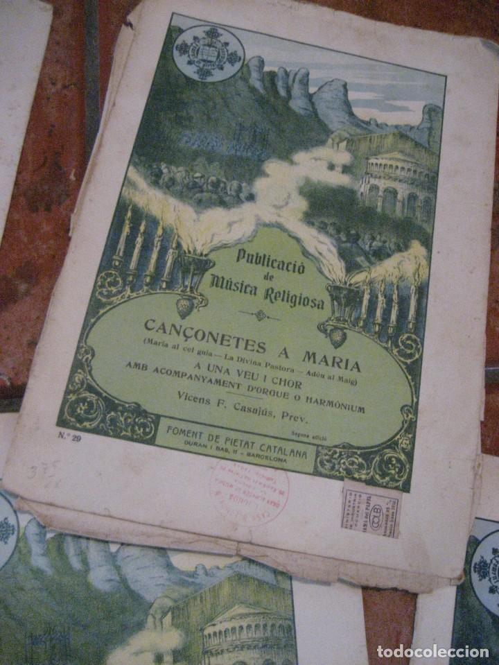 Partituras musicales: gran lote antiguas partituras musica sacra religiosa . lauda sion emporium . foment pietat - Foto 50 - 220858513