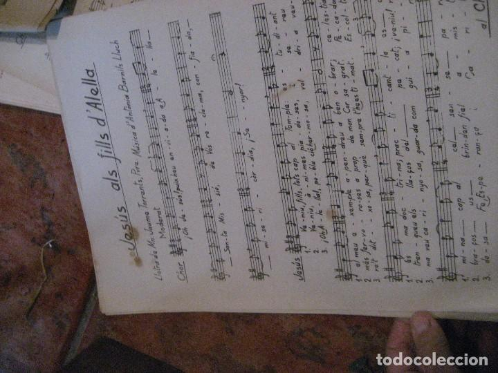 Partituras musicales: gran lote antiguas partituras musica sacra religiosa . lauda sion emporium . foment pietat - Foto 53 - 220858513