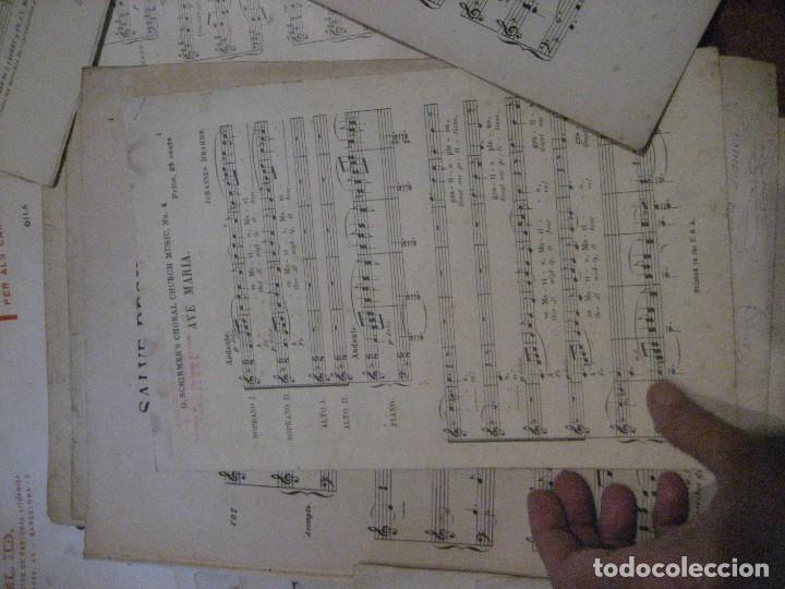 Partituras musicales: gran lote antiguas partituras musica sacra religiosa . lauda sion emporium . foment pietat - Foto 58 - 220858513