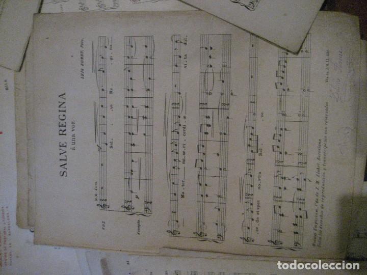 Partituras musicales: gran lote antiguas partituras musica sacra religiosa . lauda sion emporium . foment pietat - Foto 59 - 220858513