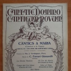 Partituras musicales: PARTITURA : CANTICS A MARÍA - FERRARI GINNARELLI. Lote 220921215