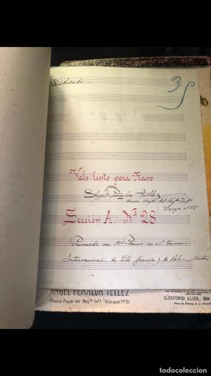 Partituras musicales: libros de partituras originales de angel peñalva tellez musico mayor del 51 regimiento infanteria - Foto 5 - 221748717