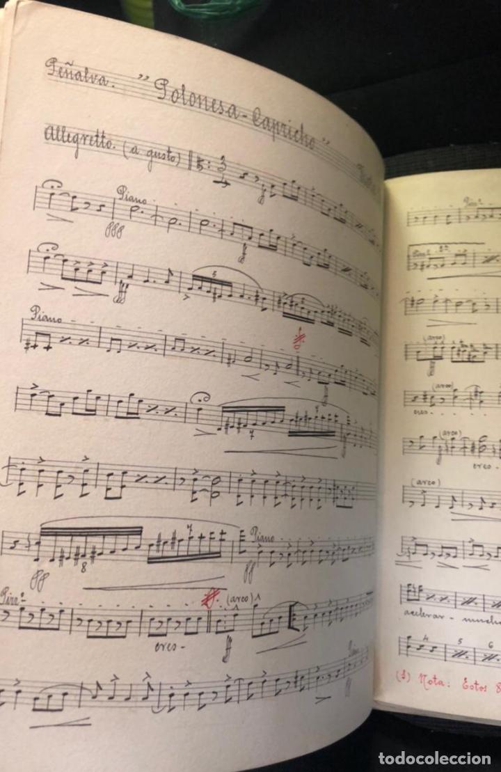 Partituras musicales: libros de partituras originales de angel peñalva tellez musico mayor del 51 regimiento infanteria - Foto 6 - 221748717