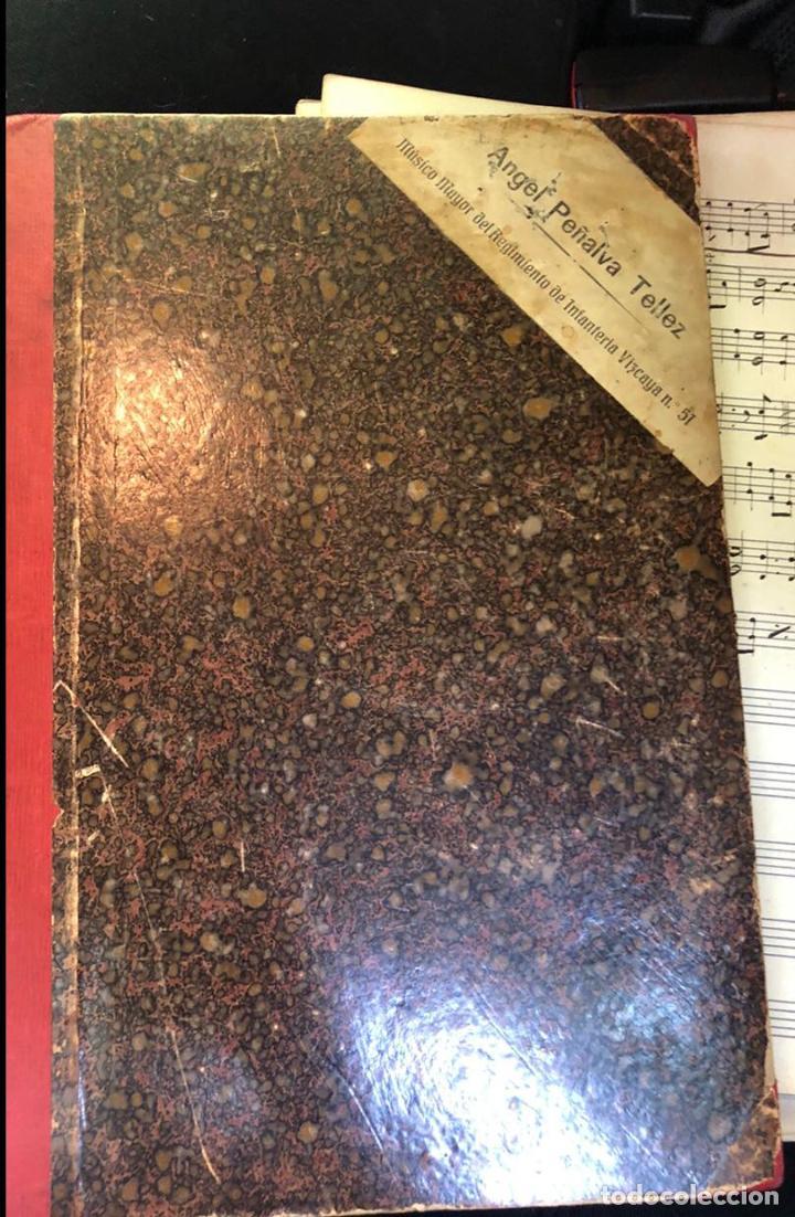 Partituras musicales: libros de partituras originales de angel peñalva tellez musico mayor del 51 regimiento infanteria - Foto 11 - 221748717
