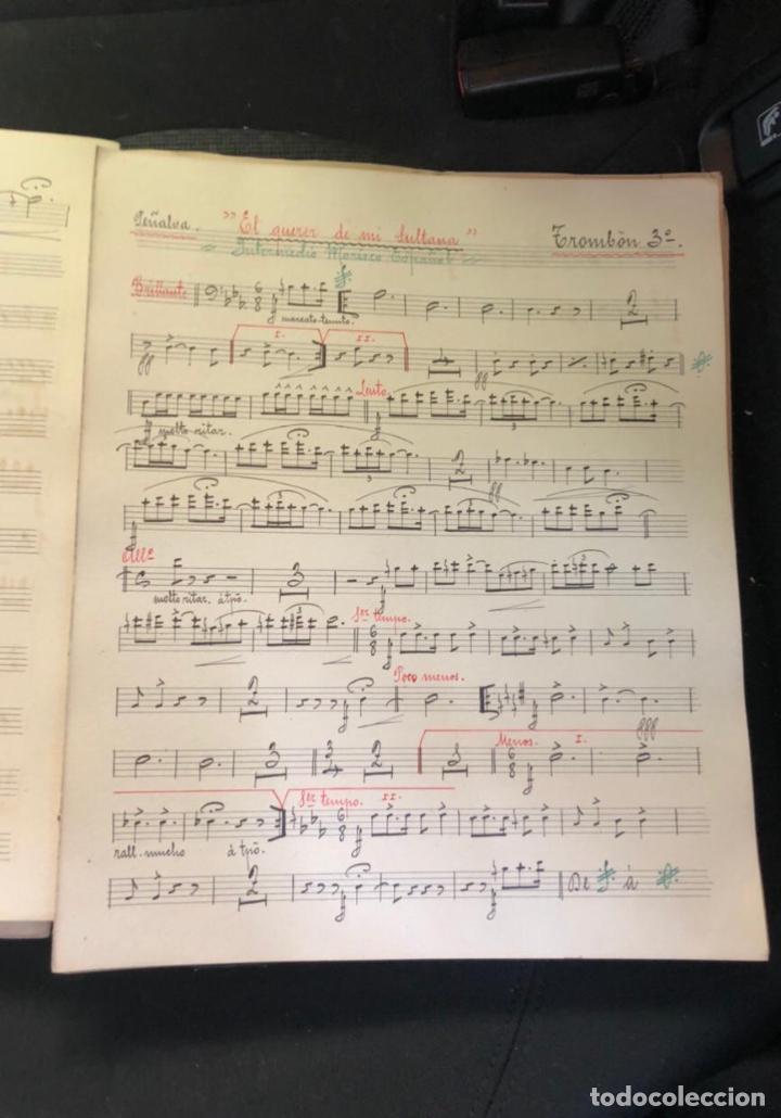 Partituras musicales: libros de partituras originales de angel peñalva tellez musico mayor del 51 regimiento infanteria - Foto 12 - 221748717