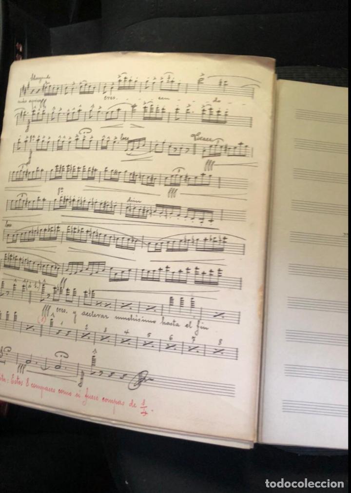 Partituras musicales: libros de partituras originales de angel peñalva tellez musico mayor del 51 regimiento infanteria - Foto 14 - 221748717