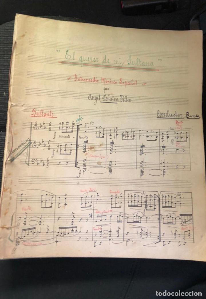 Partituras musicales: libros de partituras originales de angel peñalva tellez musico mayor del 51 regimiento infanteria - Foto 17 - 221748717
