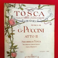Partituras musicales: TOSCA - PUCCINI - ACTO II. Lote 222365322