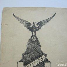 Partituras musicales: NAZISMO-HIMNO NACIONAL ALEMAN-PARTITURA ANTIGUA-NAZI-VER FOTOS-(V-22.374). Lote 223971188