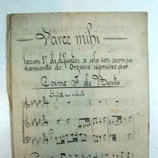 Partituras musicales: VARCE MUHI. C. J DE BENITO. ACOMPAÑAMIENTO DE ORGANO. MANUSCRITA. JAIME SAN MARCOS. MIERES. ASTURIAS. Lote 226060735