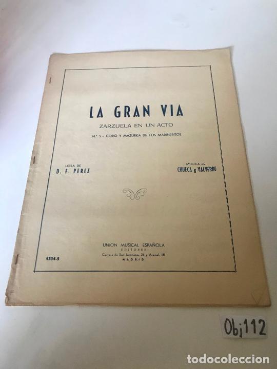 PARTITURA LA GRAN VÍA (Música - Partituras Musicales Antiguas)