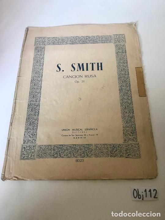 PARTITURA S. SMITH (Música - Partituras Musicales Antiguas)