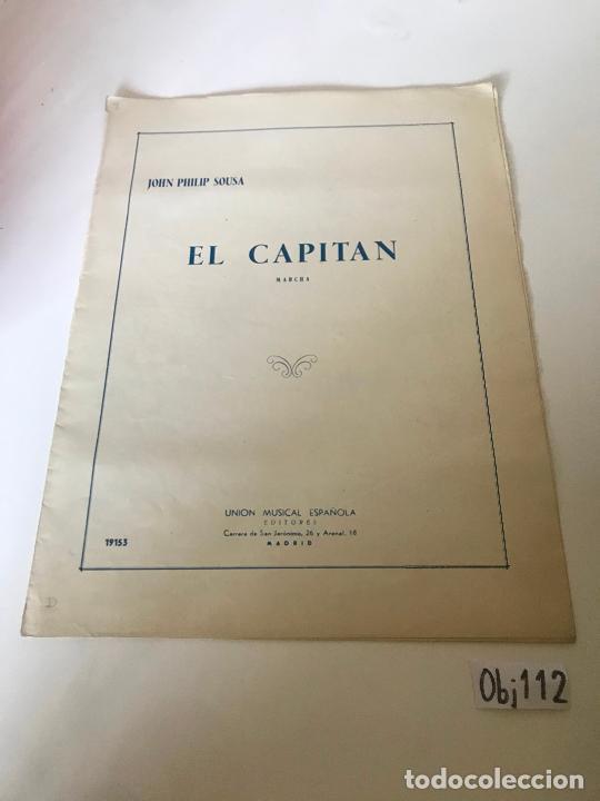PARTITURA EL CAPITAN (Música - Partituras Musicales Antiguas)